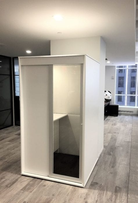 acoustic privacy phone booth
