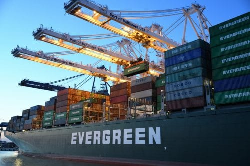containers on boat for international shipping